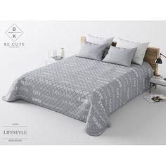 HOME prehoz na posteľ sivej farby