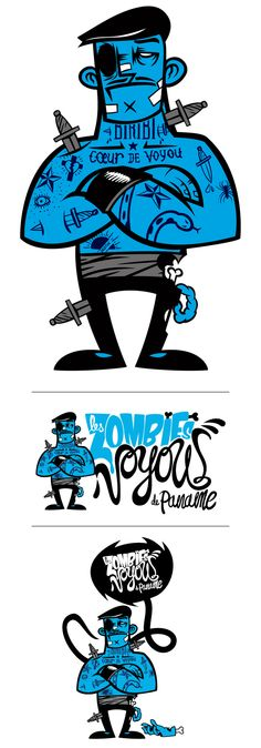http://designspiration.net/image/1335654662907/ Awesome zombie illustration