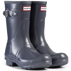 Womens Hunter Original Short Gloss Wellingtons Snow Winter Rain Boots * Click image for more details.