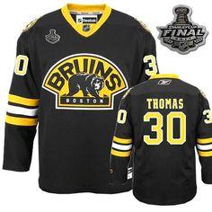 8a945d54009 Reebok Boston Bruins  30 Tim Thomas Black Authentic Third Man NHL Jersey   139.99 Nhl Boston