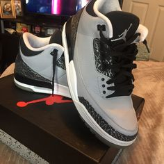 new style 02466 bb5af Jordan Shoes   Mens Jordan Wolf Grey Sz 10.5   Color  Black Gray   Size   10.5