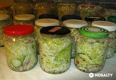 Csalamádé (amit nem lehet elrontani) Fresh Rolls, Finger Foods, Pickles, Cucumber, Mason Jars, Cabbage, Ale, Sandwiches, Food And Drink