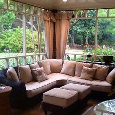 screened in porch furniture - Google Search