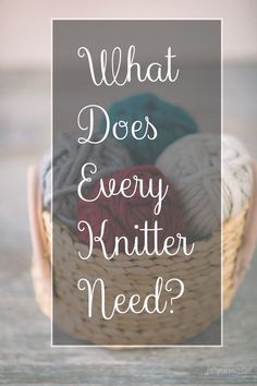 Looking for help with your Knitting?