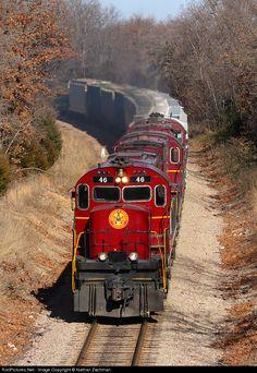 RailPictures.Net Photo: 46 Arkansas & Missouri Railroad Alco C420 at Butterfield, Missouri by Nathan Zachman