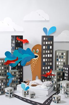Whimsical Dreamworlds Created by Cardboard by Carolin Wanitzek