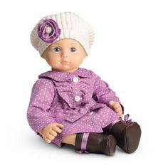 Dotty Coat Set for Dolls | bbclothing | American Girl