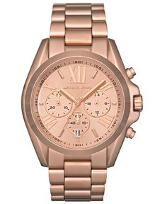 Michael Kors Watch, Women's Chronograph Bradshaw Rose Gold-Tone Stainless Steel Bracelet 43mm MK5503 - All Watches - Jewelry & Watches - Macy's