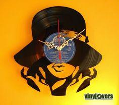 Luv U Fearlessly!: Urban Decor Hip Retro handmade record clock..so groovy