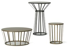 Round steel coffee table Hollo Collection by PETITE FRITURE | design Amandine Chhor, Aïssa Logerot