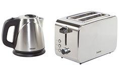 Igenix IGPK06 Breakfast Set, Kettle and 2 Slice Toaster - Brushed Stainless...