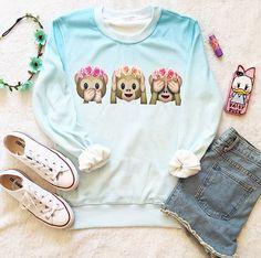 Sweater with hippie monkeys