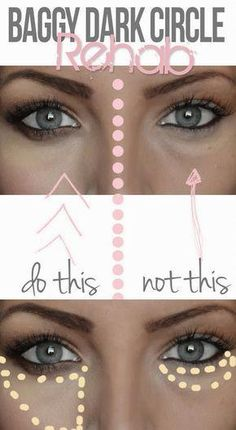 How to Apply Concealer to Hide Dark Under Eye Circles - Tips and Tricks for Undereye Concealer, Hiding Dark Circles All Things Beauty, Beauty Make Up, Diy Beauty, Beauty Hacks, Beauty Care, Beauty Skin, Homemade Beauty, Beauty 101, Beauty Ideas