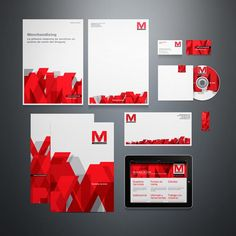 Corporate Design Inspiration Graphic design studio Circo from Uruguay created the corporate identity system for Pop Merchandising. The contrasting red pattern is based on the Logo. Corporate Identity Design, Brand Identity Design, Branding Design, Visual Identity, Corporate Brochure, Graphic Design Studios, Graphic Design Typography, Graph Design, Web Design