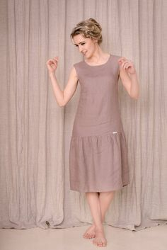 Linen drop waist dress linen tank dress every day dress lace up back dress simple linen dress sleeve less dress linen dress Linen Dresses, Day Dresses, Casual Dresses, Fashion Dresses, Linen Dress Pattern, Dress Patterns, Plaid Dress, Dress Lace, Drop Waist