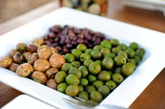Olives, antipasto, etc. for guests to nosh on before dinner