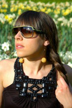 Golden Sun in My Ears Earrings (see on Facebook AndyBori or contact me: andybori@seznam.cz)