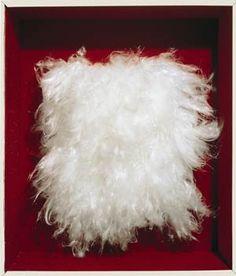 Piero Manzoni || Achrome || 1961-62 || Artificial fiber, 24 3/16 × 18 1/8 inches (61.5 × 46 cm) || Photo Archivio Opera Piero Manzoni || Courtesy Gagosian Gallery