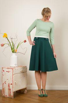 """Kleid """"Elisa"""" mit Tellerrock von Jekyll und Kleid auf DaWanda.com"""