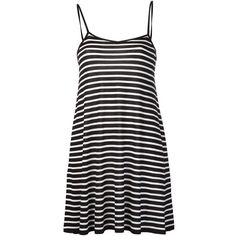 Saint Laurent Baby Doll Tank Dress (30,295 INR) ❤ liked on Polyvore featuring dresses, black, short spaghetti strap dress, tank top dress, tank dress, v neck dress and v neck short dress