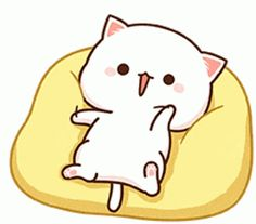 Cute Bear Drawings, Chibi Cat, Wonder Art, Cute Cartoon Pictures, Cute Emoji, Cute Memes, Cute Gif, Cats, Sticker