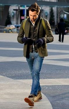 mens denim and blazer look - Google Search