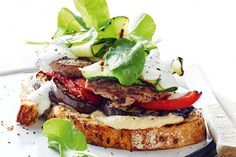 Succulent lamb, spicy hummus and thin zucchini ribbons... what's not to love about this low-cal sandwich?