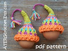 Gehaakt patroon ei-COZY 'fairy hoed' door ATERGcrochet