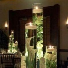 Aqua Flowers, beautiful center piece