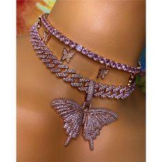 Stylish Jewelry, Cute Jewelry, Luxury Jewelry, Women Jewelry, Jewelry Accessories, Butterfly Necklace, Butterfly Pendant, Pink Butterfly, Estilo Gangster