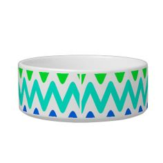 Shop Mint Green Blue Zig Zag Pattern Bowl created by stdjura. Cat Bowl, Zig Zag Pattern, Pet Gifts, Mint Green, Your Pet, Turquoise Bracelet, Graphic Design, Create, Visual Communication