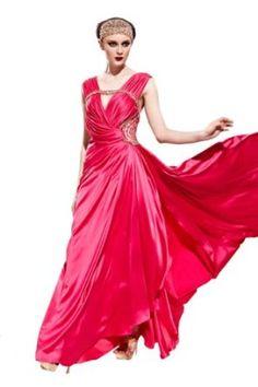 Orifashion Charming Pink Polyester Sleeveless Long Evening Dress,
