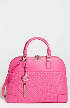 Versace 'Vanitas' Embroidered Leather Satchel available at #Nordstrom