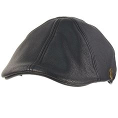 b3ad34c193a04f Men's Winter Fall Faux Leather Duckbill Ivy Driver Cabbie Cap Hat Navy S/M  56cm