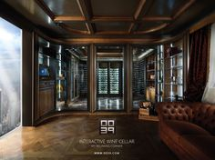 Interactive Wine Cellar- 0039 Luxury Italian Projects
