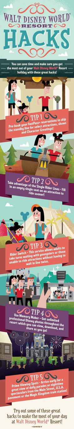 Check out these amazing Disney Hacks to make sure you get the most out of your Walt Disney World holiday!