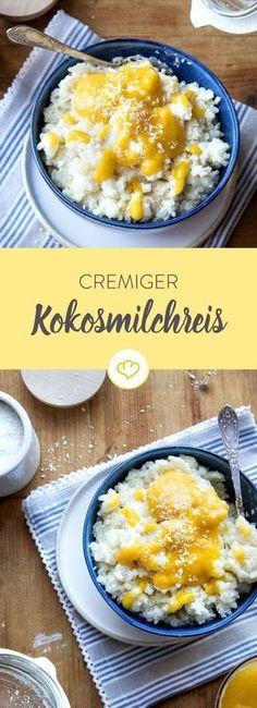 Kokosmilch, Kokosraspeln, ein Hauch Zitrone und ein Klecks Mango-Bananen-Sauce machen aus dem urdeutschen Klassiker eine Nascherei à la Coco Loco.