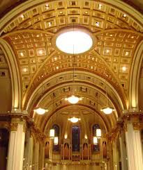 The interior of St. James Cathedral in Seattle Washington