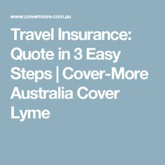 Travelers Insurance Quote 1 Cover Travel Insurance  Travel Insurance Australia  Pinterest