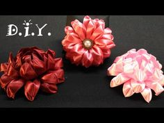 ✾ ❁ ✾ D.I.Y. Kanzashi Lotus - Tutorial ✾ ❁ ✾