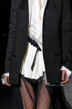 Haider Ackermann Spring 2014. Beautiful top and jacket...I would, however, wear trousers....