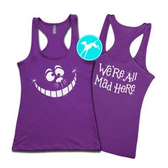 Disney Shirt Cheshire cat alice wonderland mouse Disneyland world vacation Shirt Top Tank razor back sexy funny run running exercise fitness