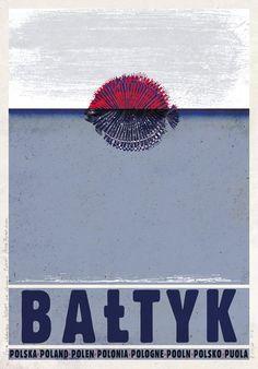 BAŁTYK, Baltic Sea | Polish Poster, PLAKAT-POLSKA series, designer: Ryszard…