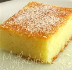yogurt_tatlisi Cute Food, Yummy Food, No Bake Cake, Turkish Sweets, Turkish Cuisine, Turkish Yogurt, Cheesecake, Turkish Recipes, Albanian Recipes