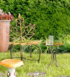 Maple Leaf Metal Chair and Table Set. Right now, take 20% OFF select outdoor furniture. Hurry, ends 8-17-16!