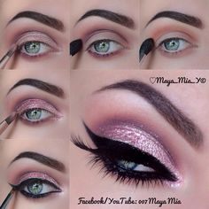 Best 15 Beautiful Pink Eye Makeup I wager each woman wish to put on the beautiful pink eye make-up for his or her on a regular basis look. To get a dramatic impact, you may also use on. Pink Eye Makeup Looks, Gorgeous Makeup, Love Makeup, Amazing Makeup, Eye Makeup Steps, Makeup Tips, Beauty Makeup, Makeup Tutorials, Makeup Geek