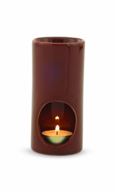 Brown Tea Light Ceramic Oil Warmer