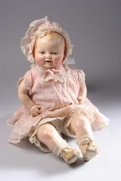 Vintage composition baby doll.