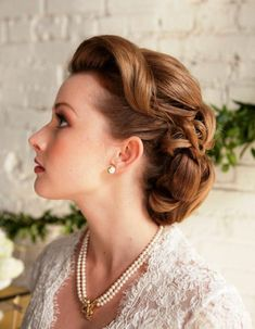 vintage wedding hairstyles for short hair - Google Search