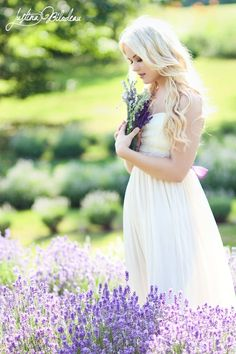 i like how shes in a field of lavender (any flower will do as long as they're pretty) and she picked some. possibly i could kneel in the flowers and get a pic of me picking some